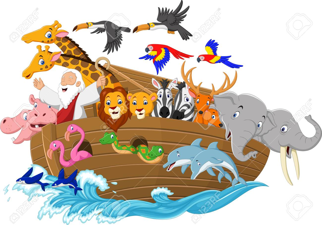 vector illustration of cartoon noah s ark royalty free cliparts rh 123rf com noah's ark clip art free noah's ark clipart black and white