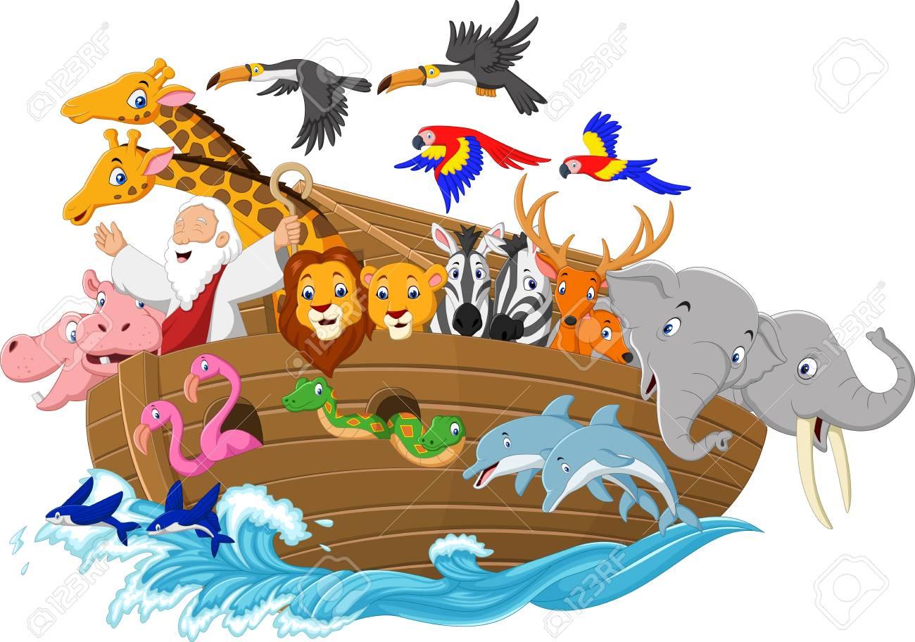 Vector illustration of Cartoon Noah's ark - 85807354