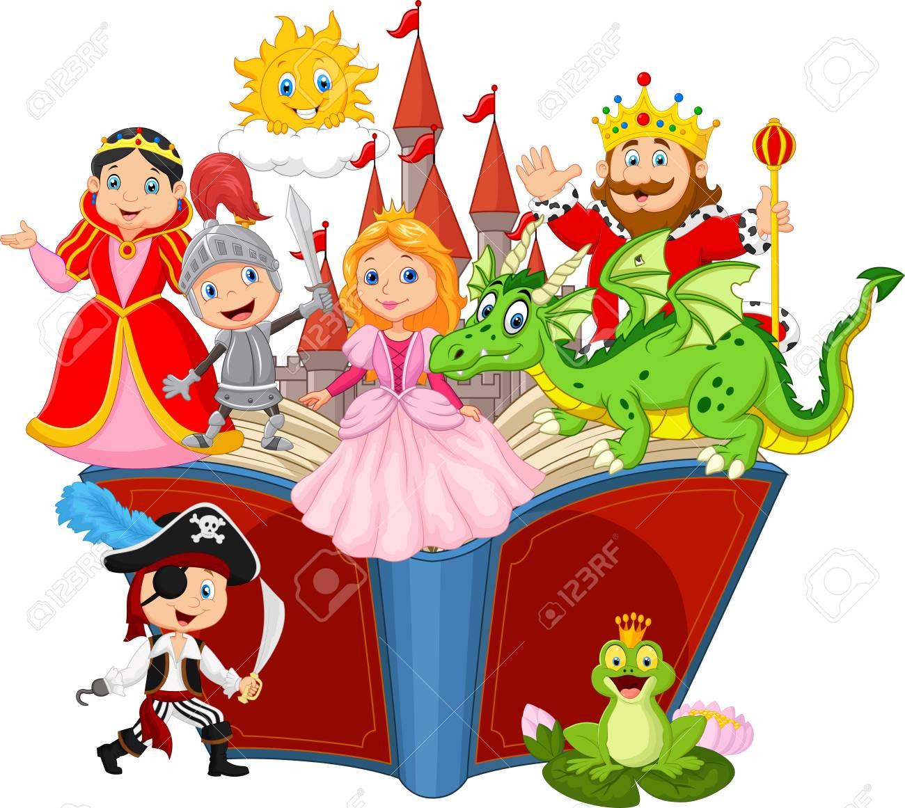 Imagination in a children fairy tail fantasy book - 96375884