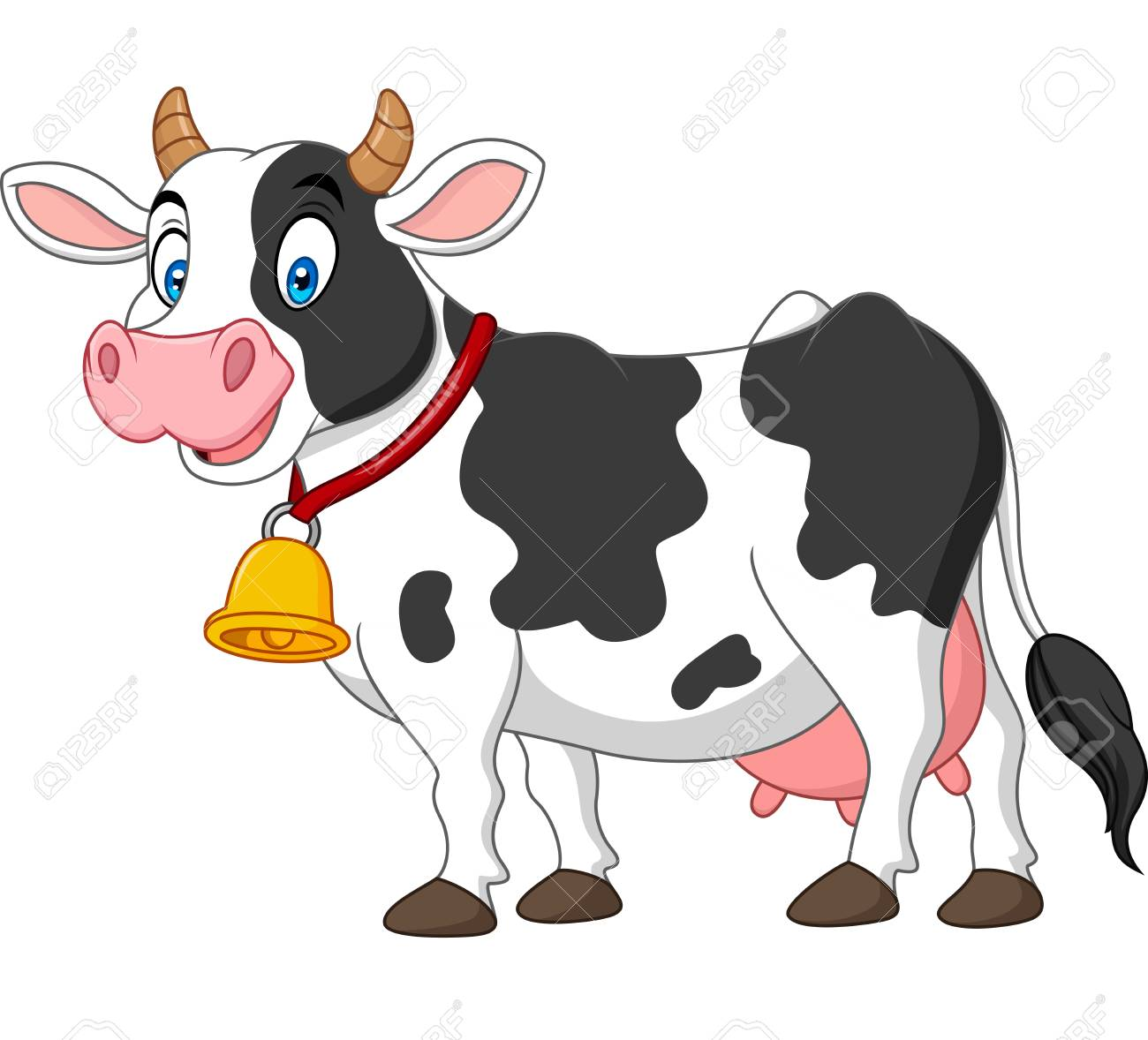 Cartoon happy cow - 102626644