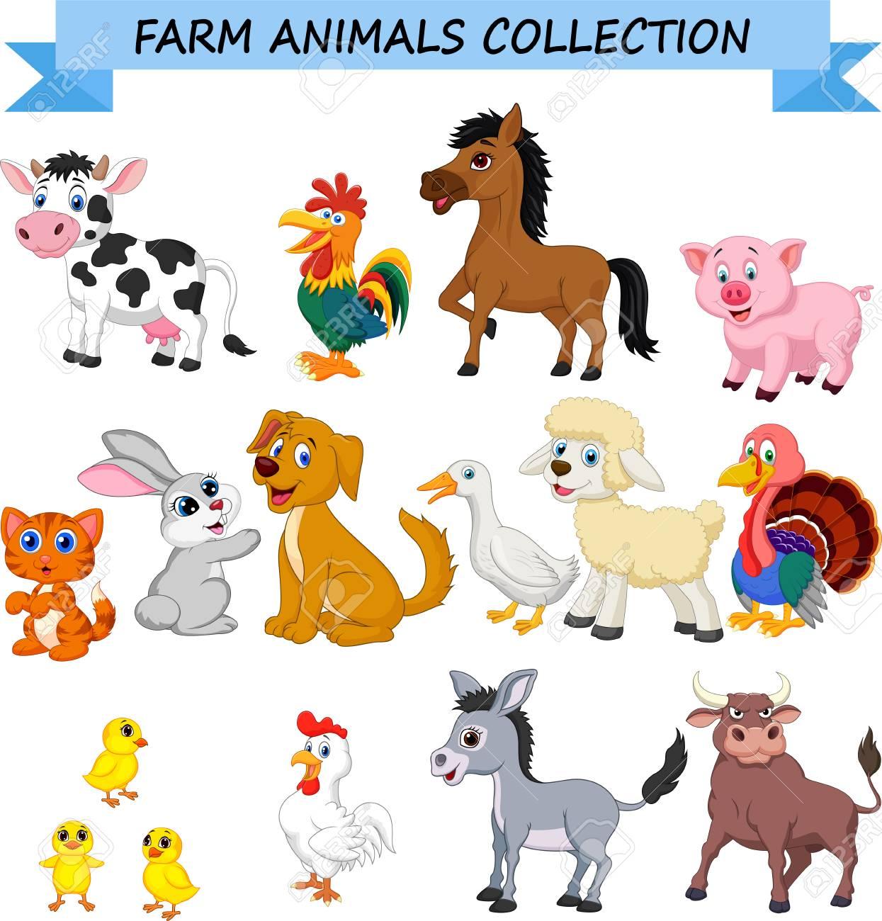 Cartoon farm animals collection - 111519495