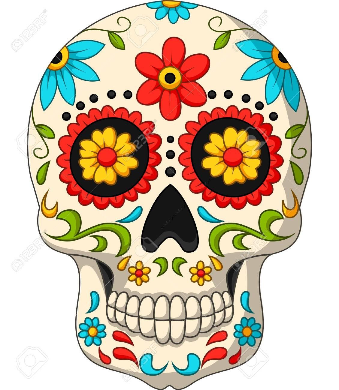 Vector illustration of Day of the Dead Skulls - 121094005