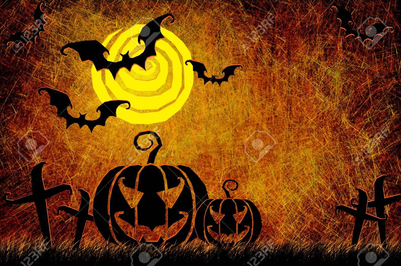 Grunge textured Halloween night background Stock Photo - 10567562