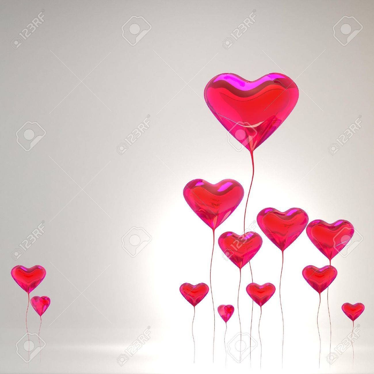 Heart balloon colored red for valentines day background Stock Photo - 11836540