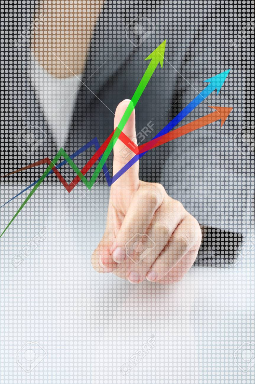 Business idea with pushing business work Stock Photo - 12629574