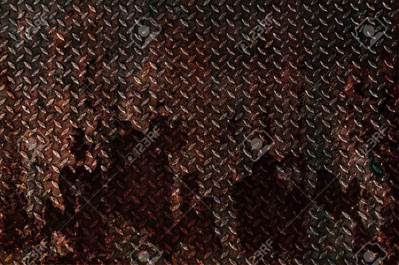 Background of old metal diamond plate Stock Photo - 14181244
