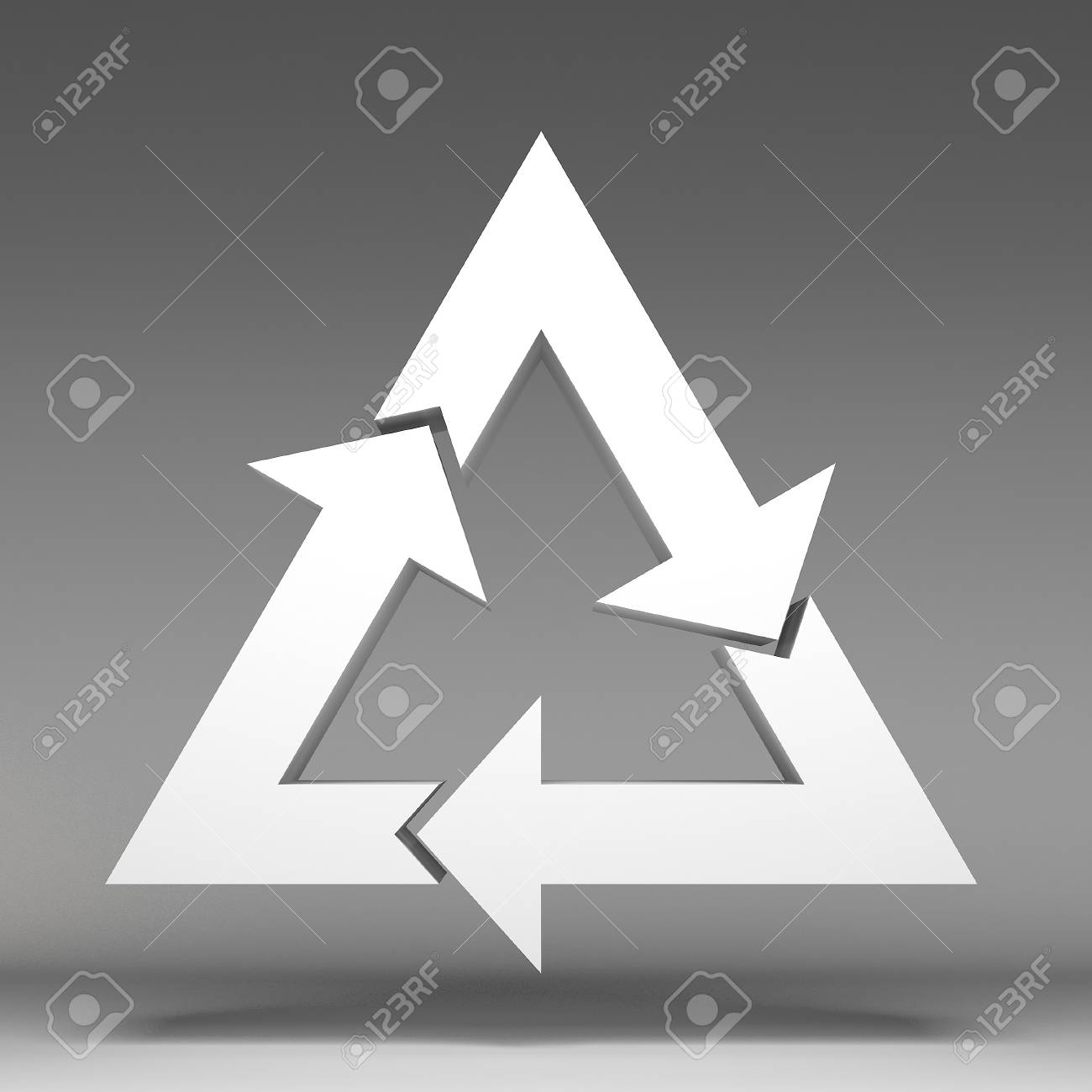 3d recycle icon Stock Photo - 17366402