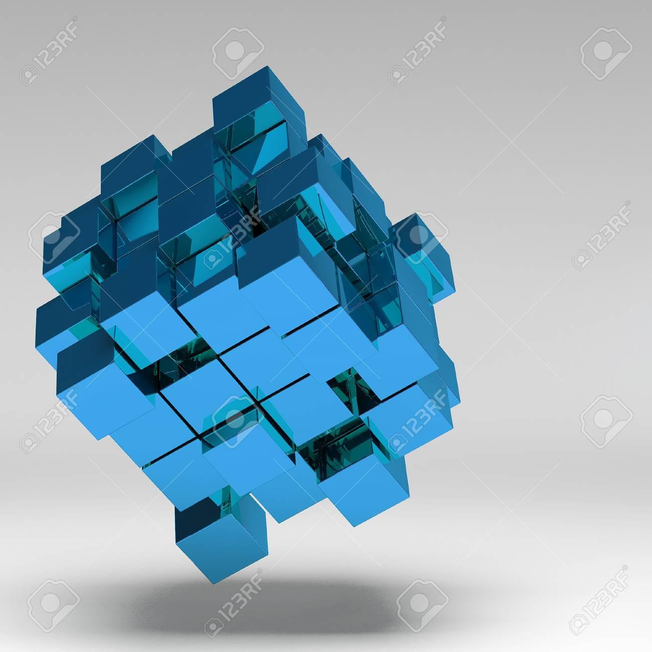 3d illustration basic geometric shapes Stock Illustration - 22521714