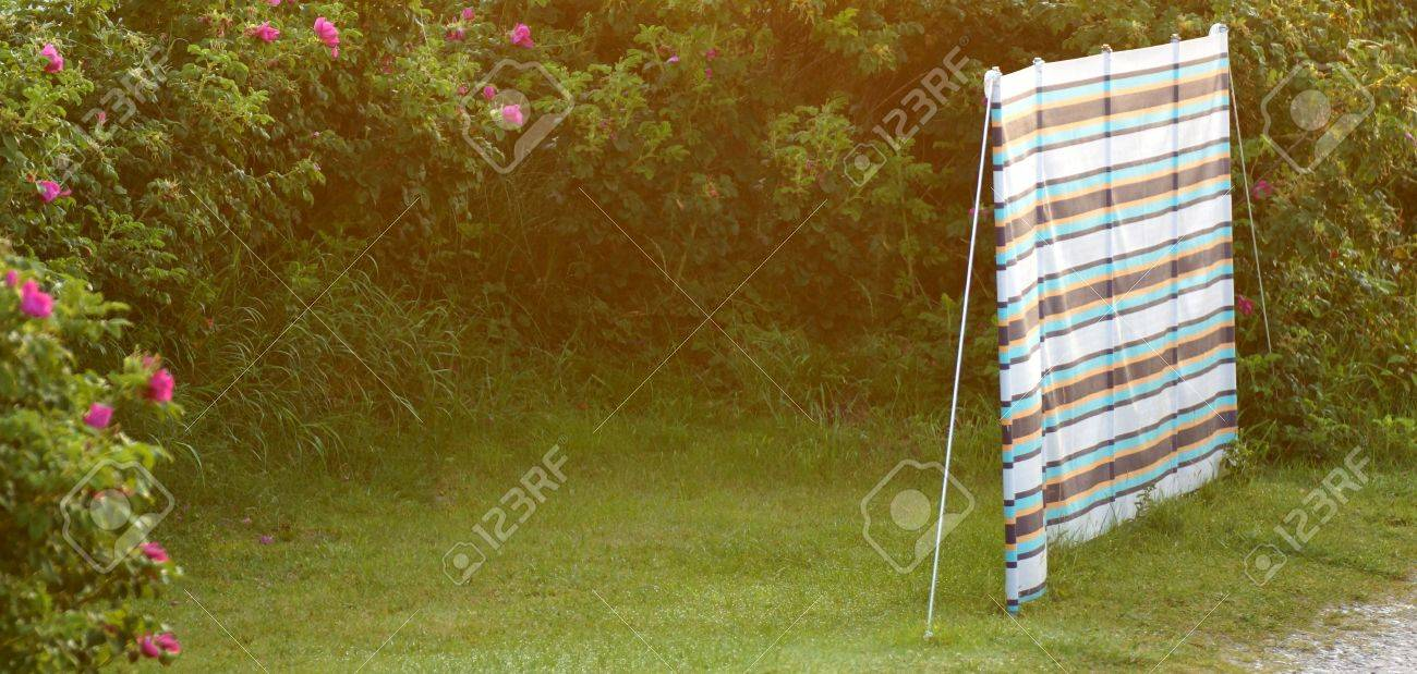 Charming Privacy   Visual Protection For Garden And Camping Stock Photo   21788587