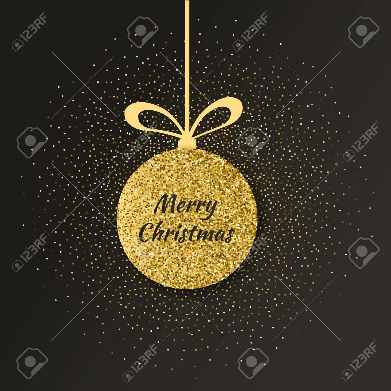 Buon Natale Glitter.Vettoriale Priorita Bassa Sveglia Di Buon Natale Con La Palla