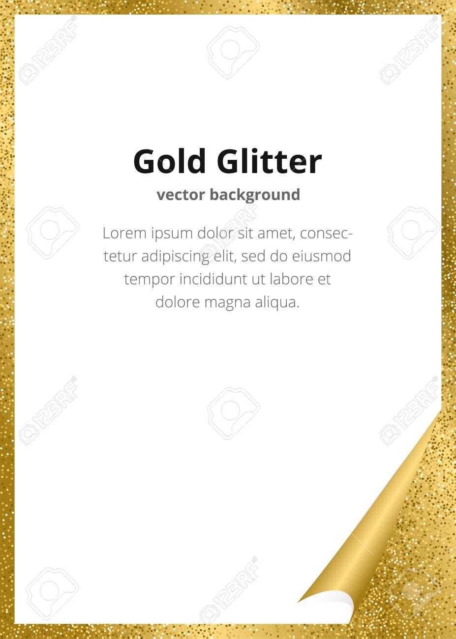 Plantilla Para Guardar La Fecha Fiesta De Cumpleaños U Otra Invitación Con Fondo De Oro Diseño De Tarjeta De Glitter Dorado Plantilla De Diseño