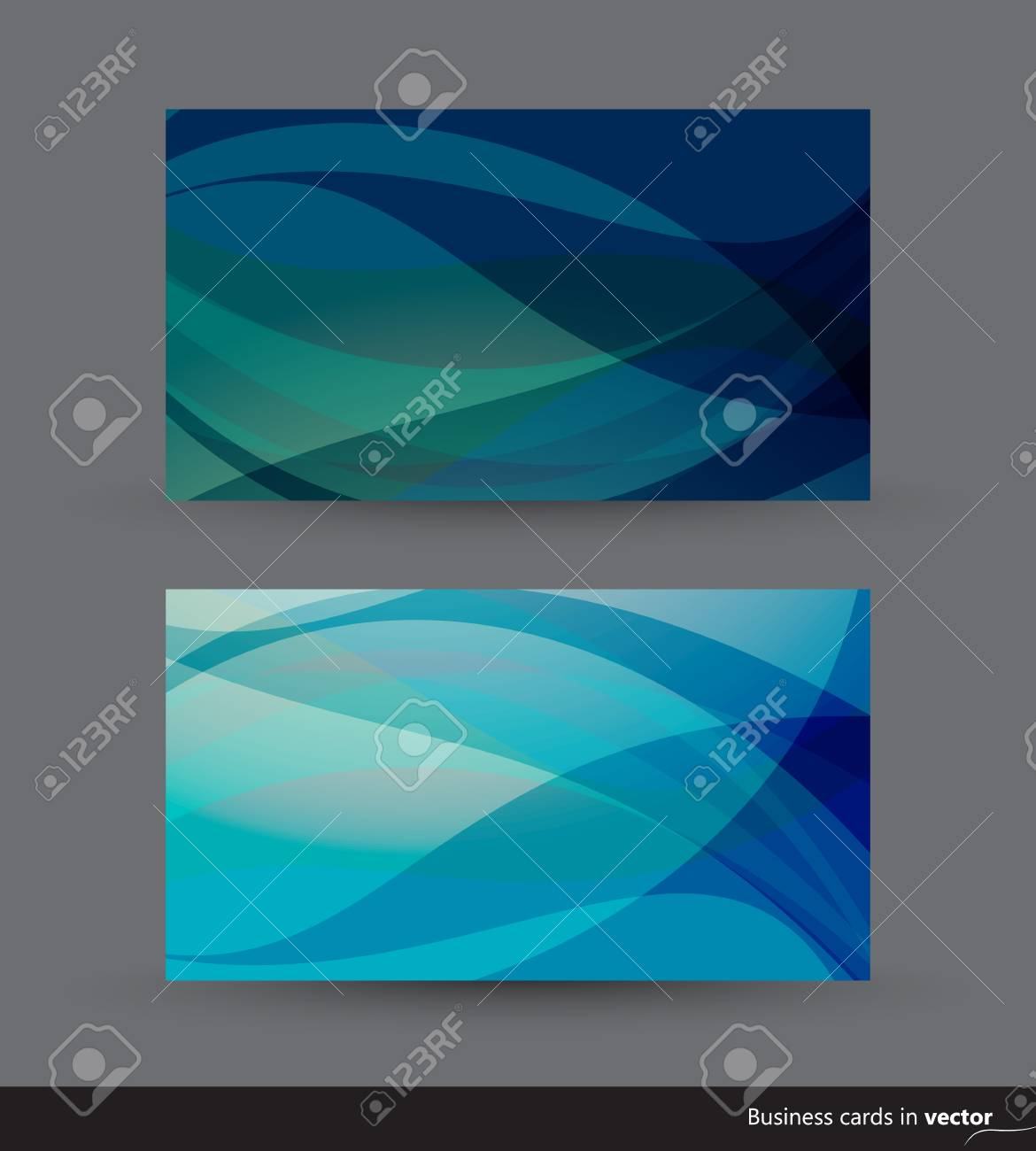 Two business cards in blue shades Stock Vector - 15062897