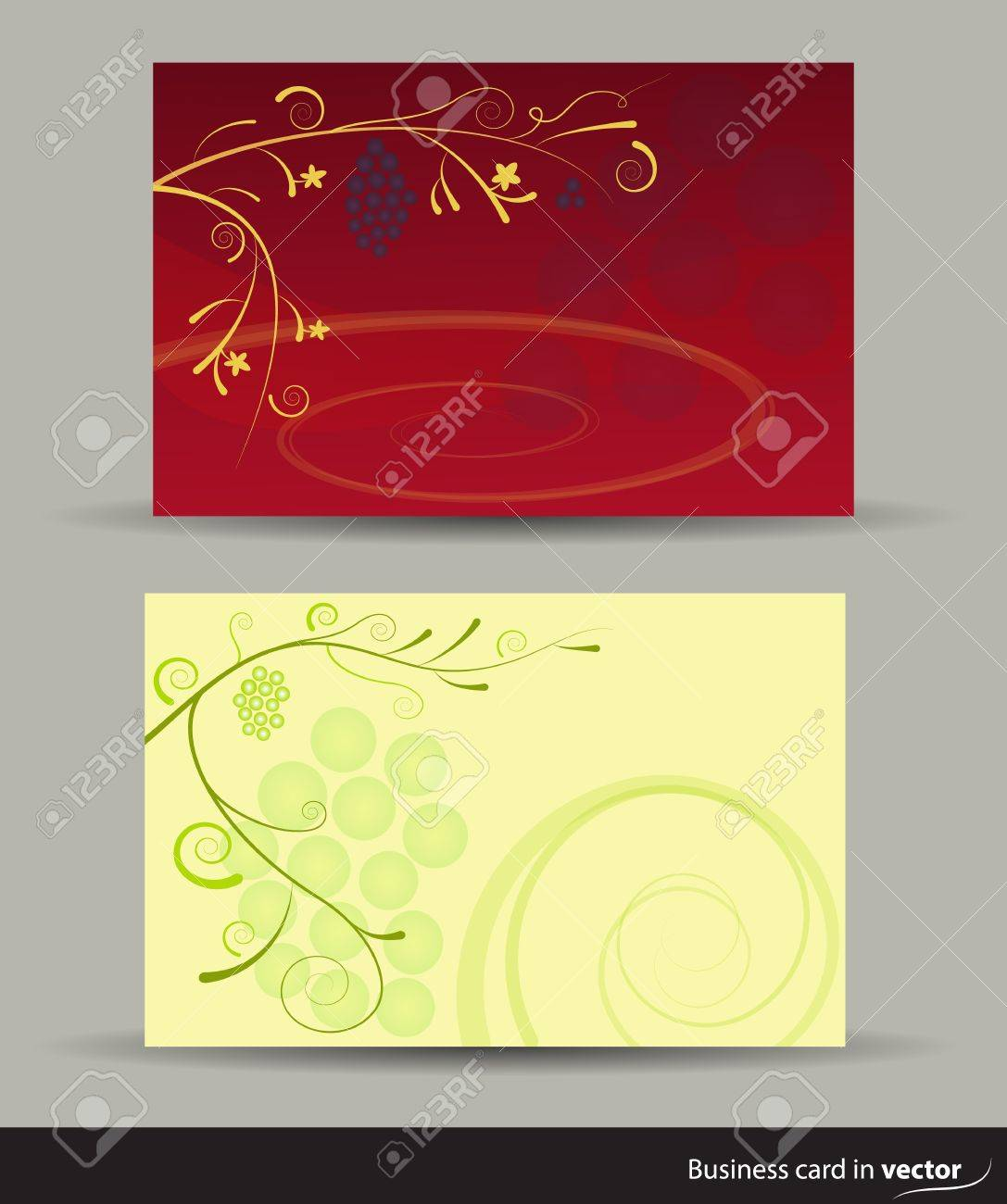 Wine cards in two versions, vector Stock Vector - 17297003