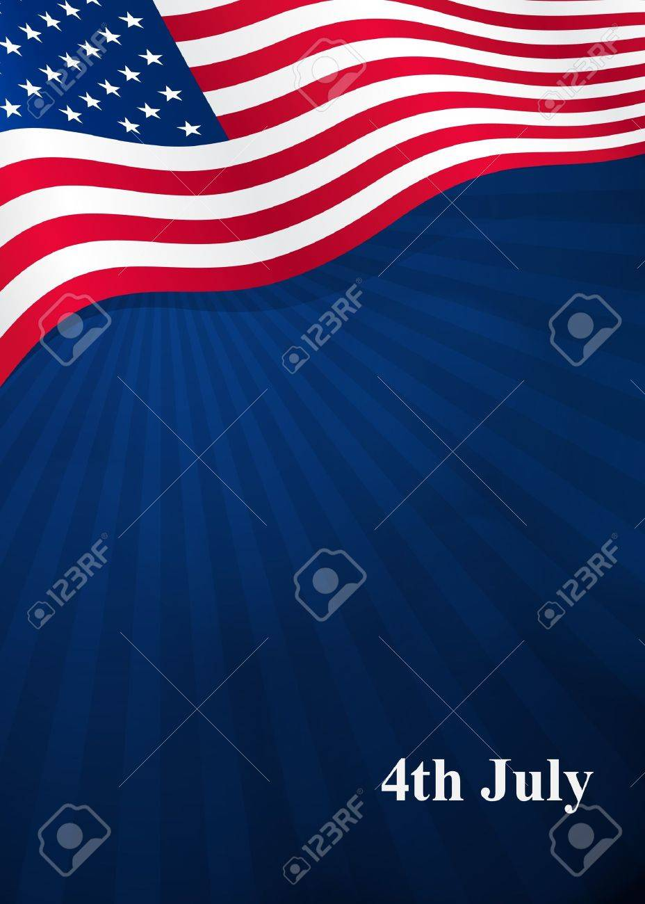 Vector background for Independence Day and other events Stock Vector - 19542083