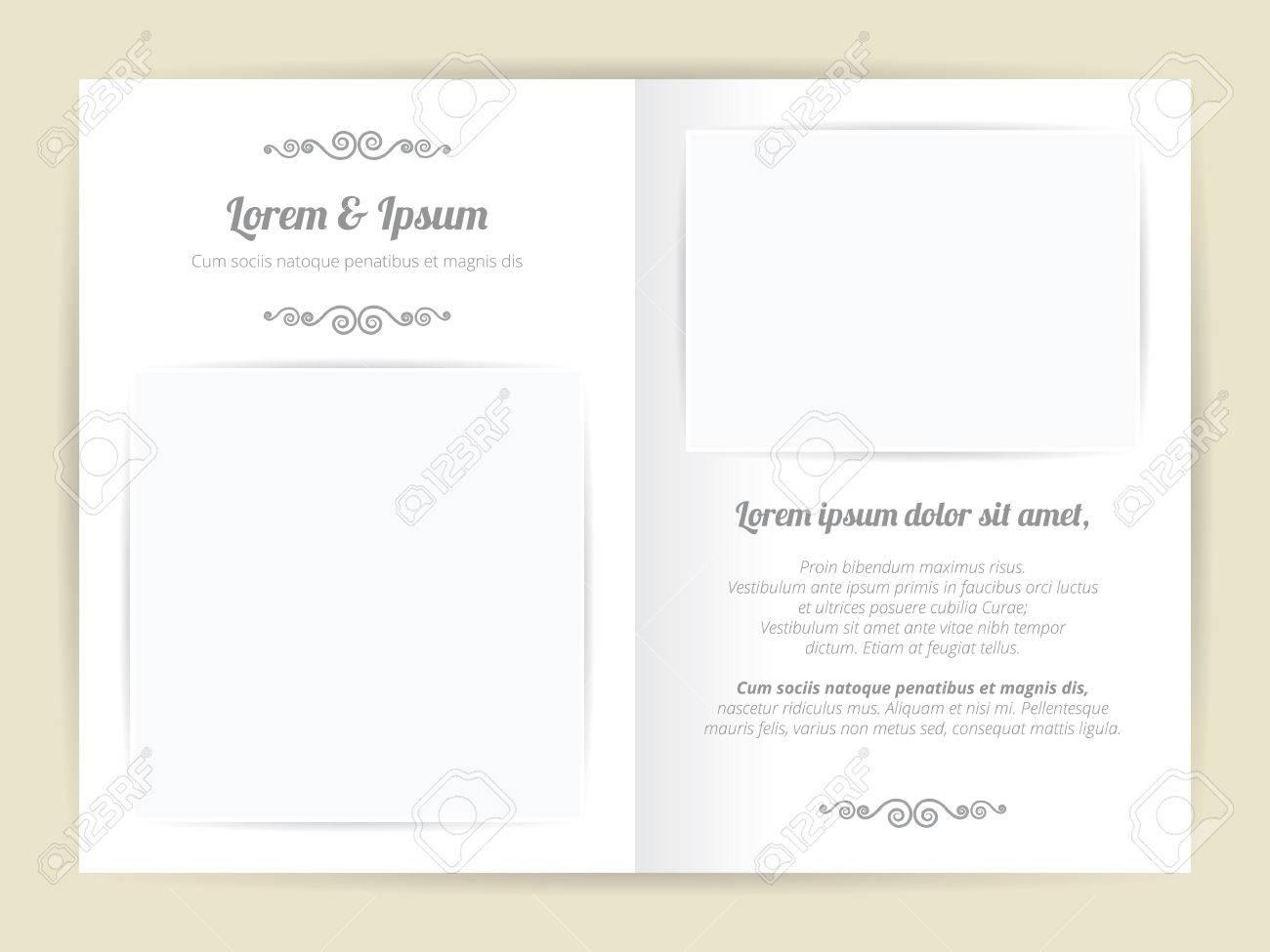 Weiß Grau Hochzeit Vorlage, Zwei Seiten Mit Grundlegenden Leeres ...