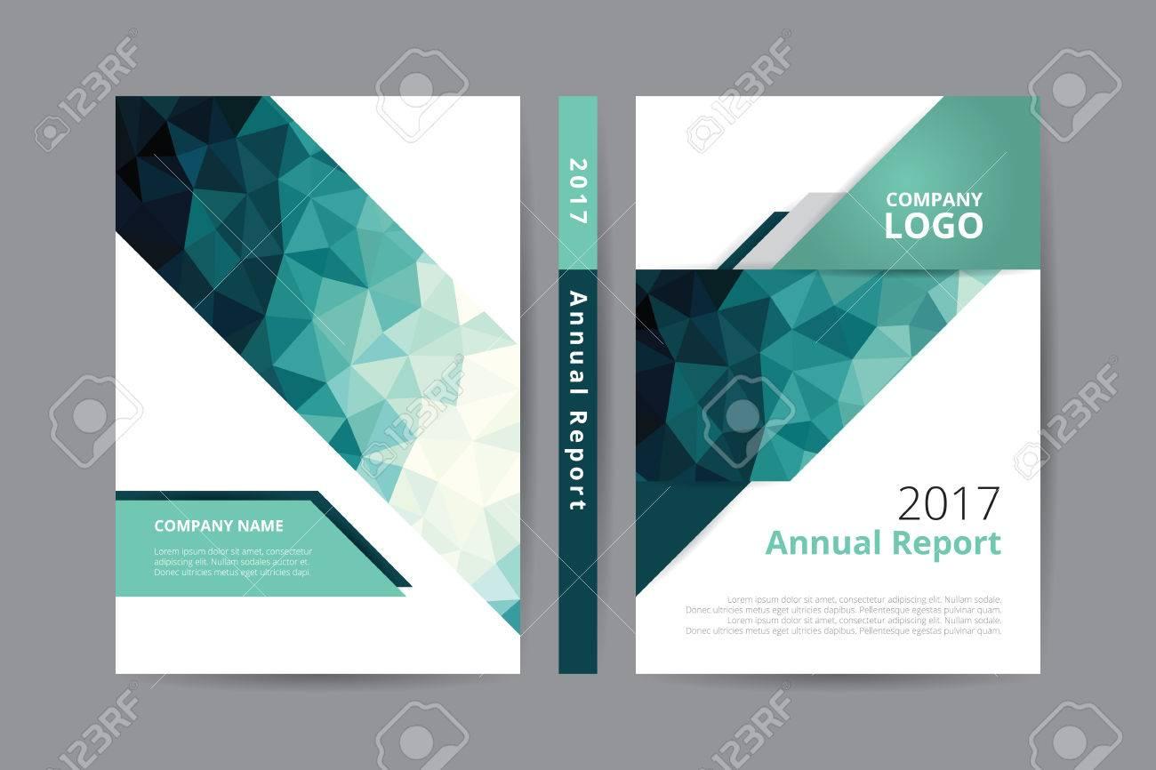 Geschäftsbericht 2017 Buch Design Vorder- Und Rückseite Vorlage ...