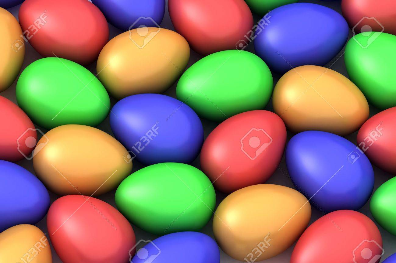 many colored easter eggs Stock Photo - 2558158