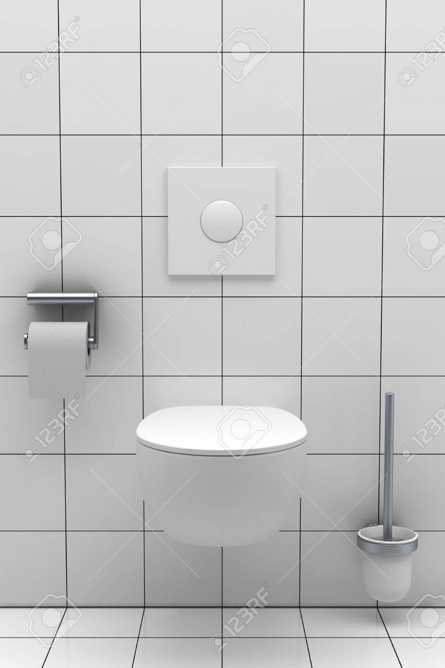 moderno bao con azulejos blancos en la pared y el suelo foto de archivo