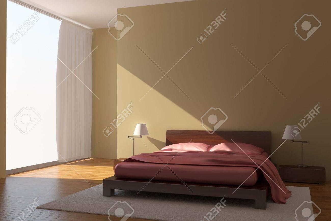 Malerisch Moderne Wände Foto Von Zimmer Mit Gelben Wände Standard-bild - 4608194