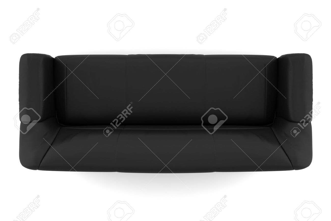 Top View Black Leather Sofa Stock Picture And Royalty