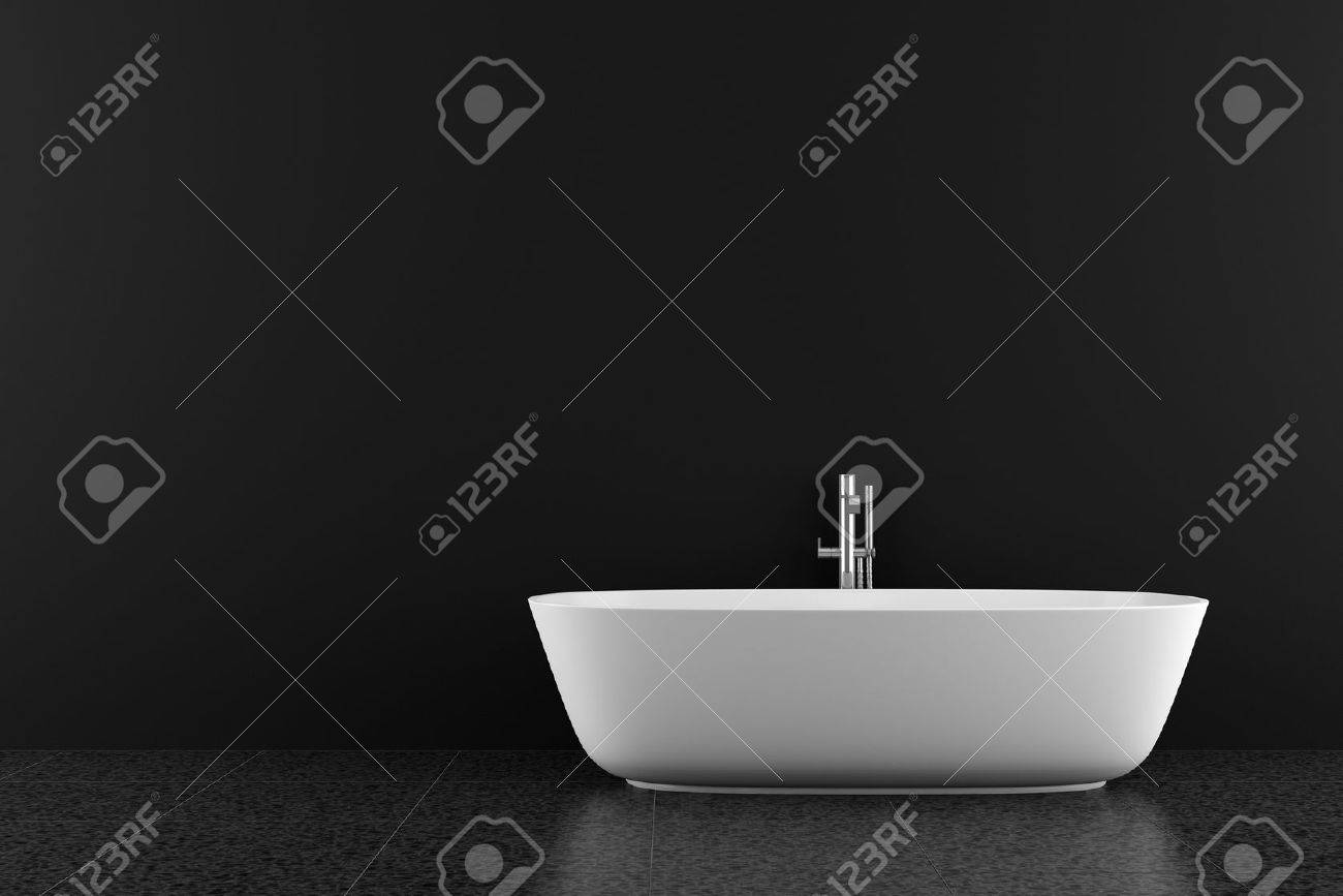 modern bathroom with black floor and wall Stock Photo - 8696159