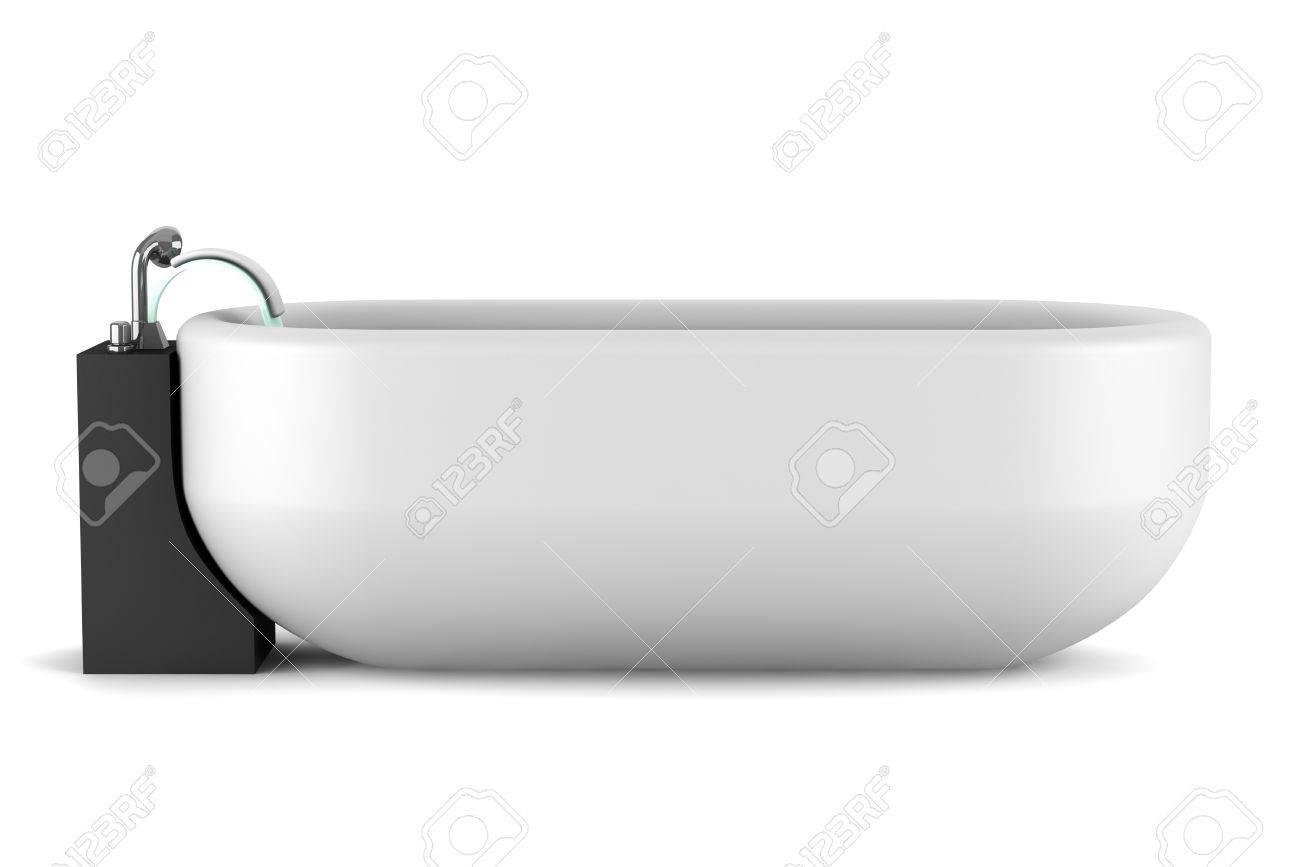 Vasca da bagno moderno, isolato su sfondo bianco foto royalty free ...
