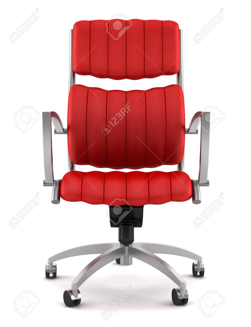 Red office chair modern - Modern Red Office Chair Isolated On White Background