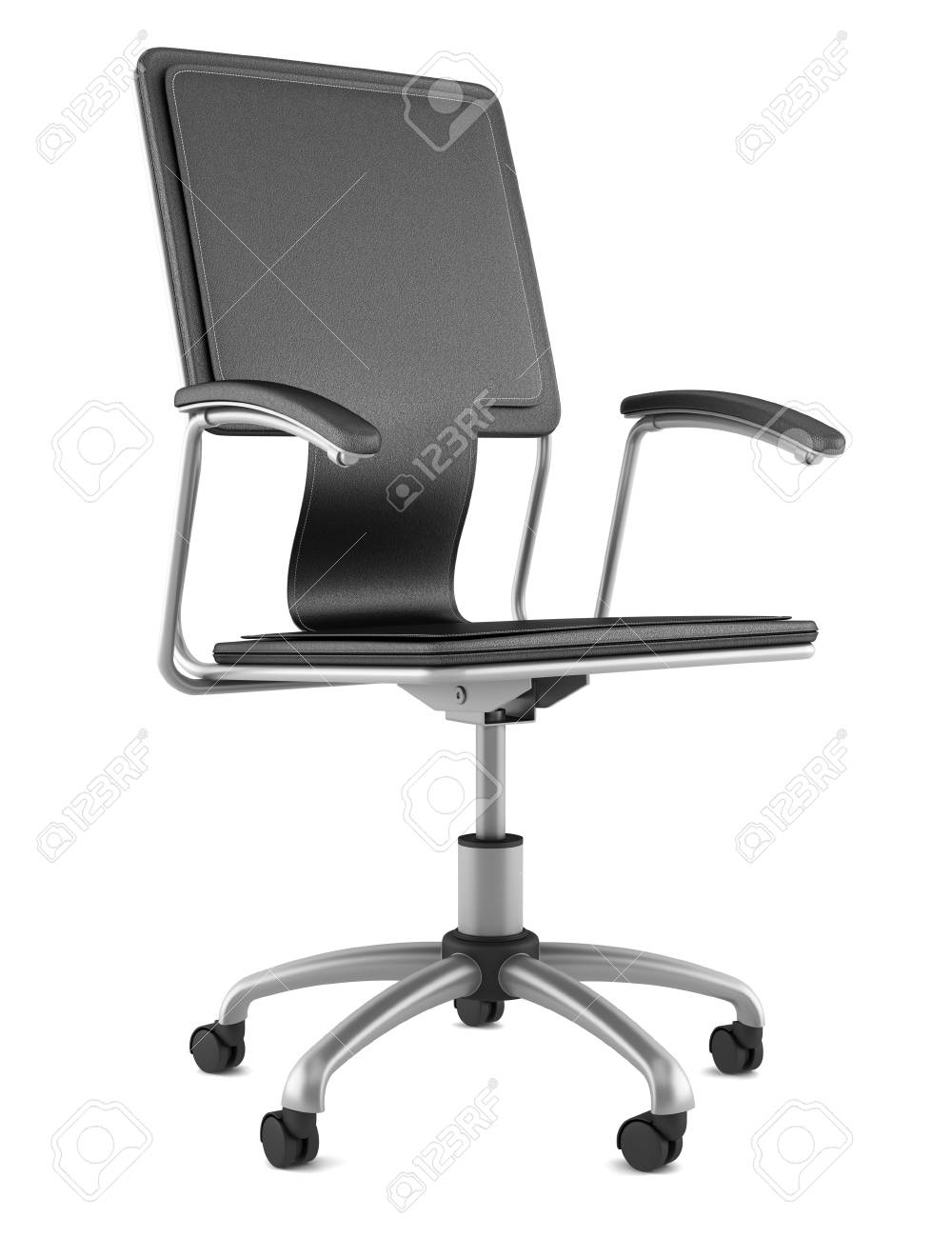 Modern Black Leather Office Chair Isolated On White Background Stock Photo Picture And Royalty Free Image Image 11138402