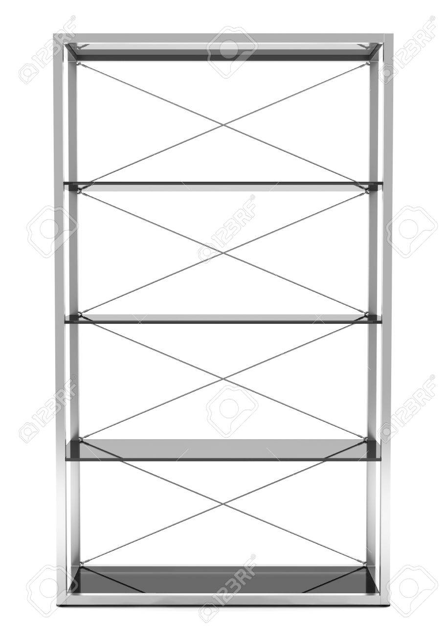 empty office shelves isolated on white background Stock Photo - 11237894