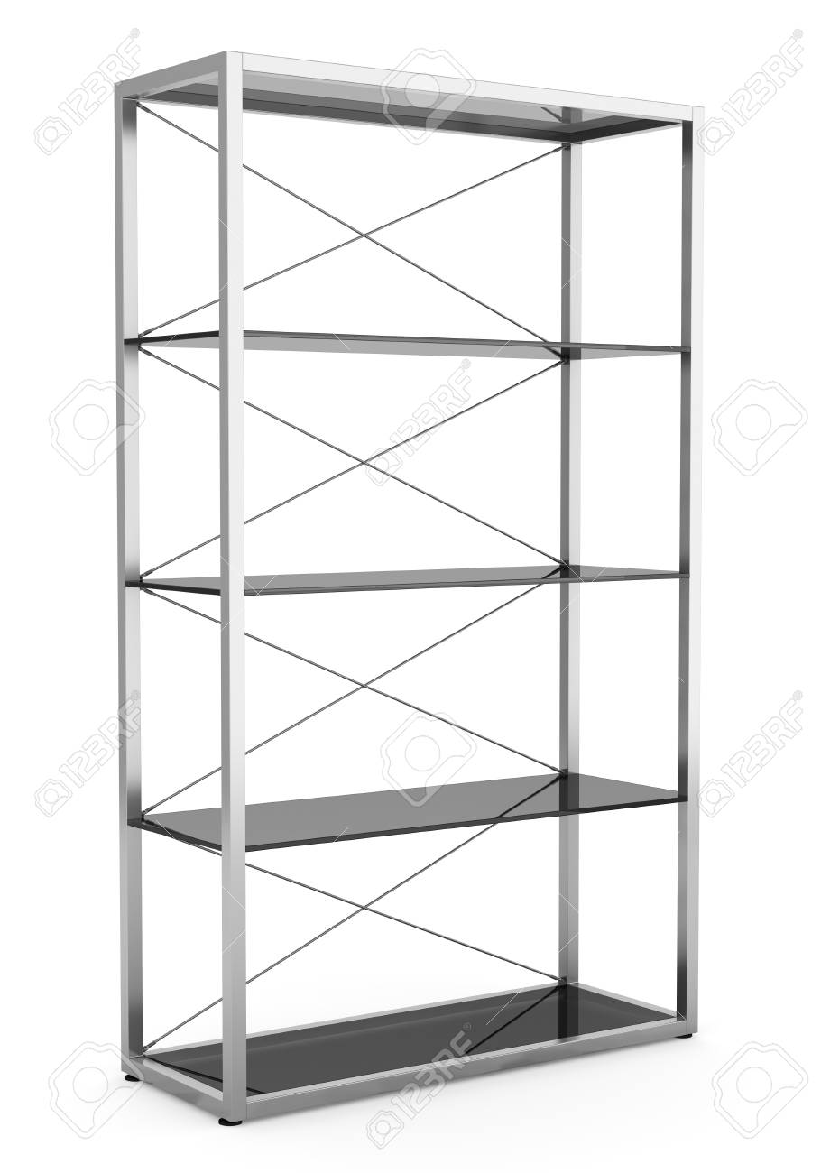 empty office shelves isolated on white background Stock Photo - 11237900