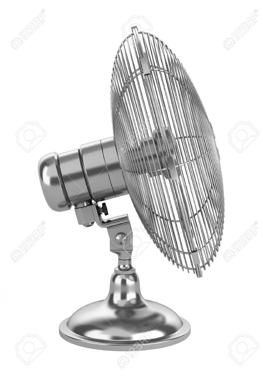 modern electric metallic fan isolated on white background Stock Photo - 12376261