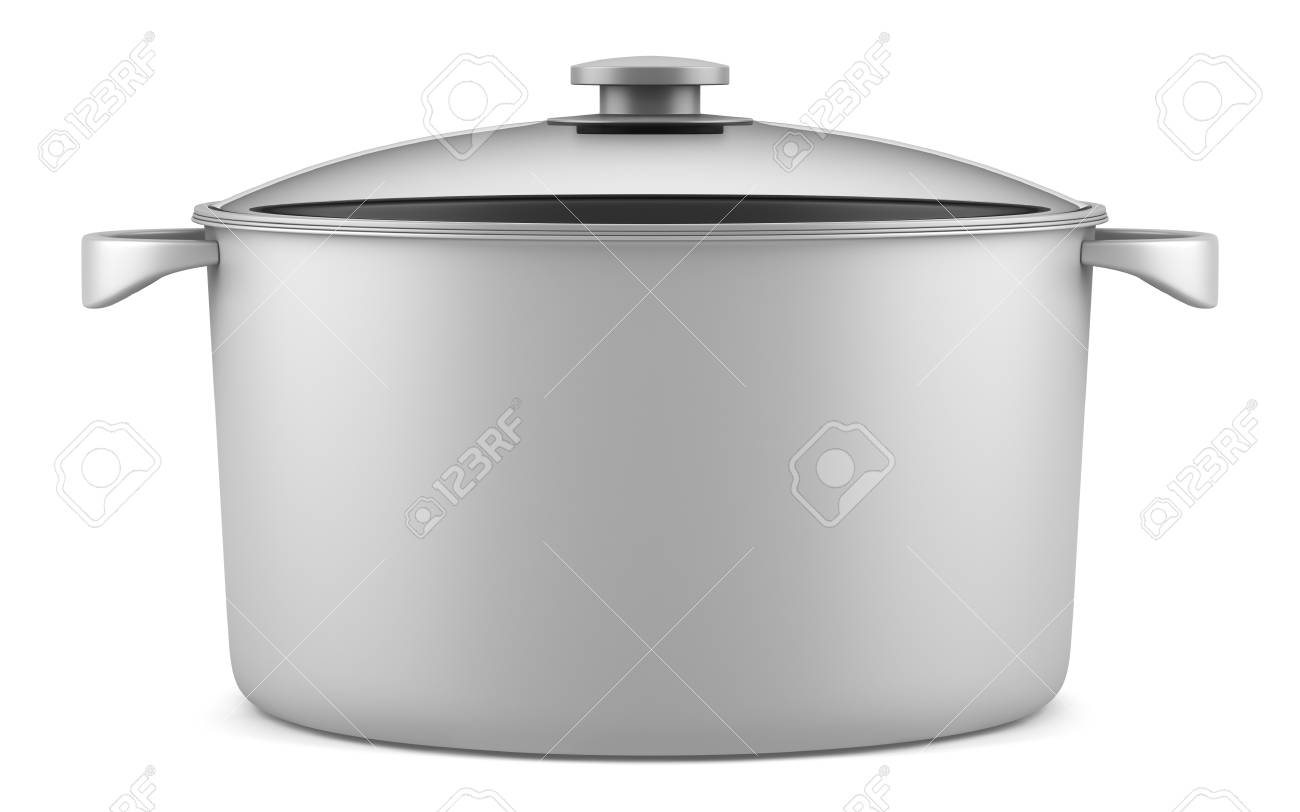 single gray cooking pan isolated on white background Stock Photo - 14250256