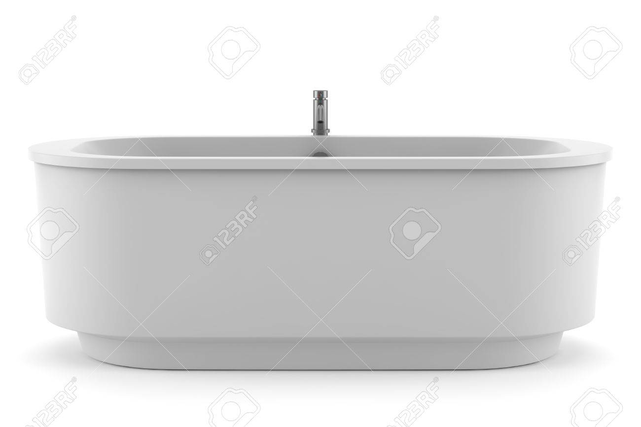 Modern Bathtub Isolated On White Background Stock Photo, Picture And ...