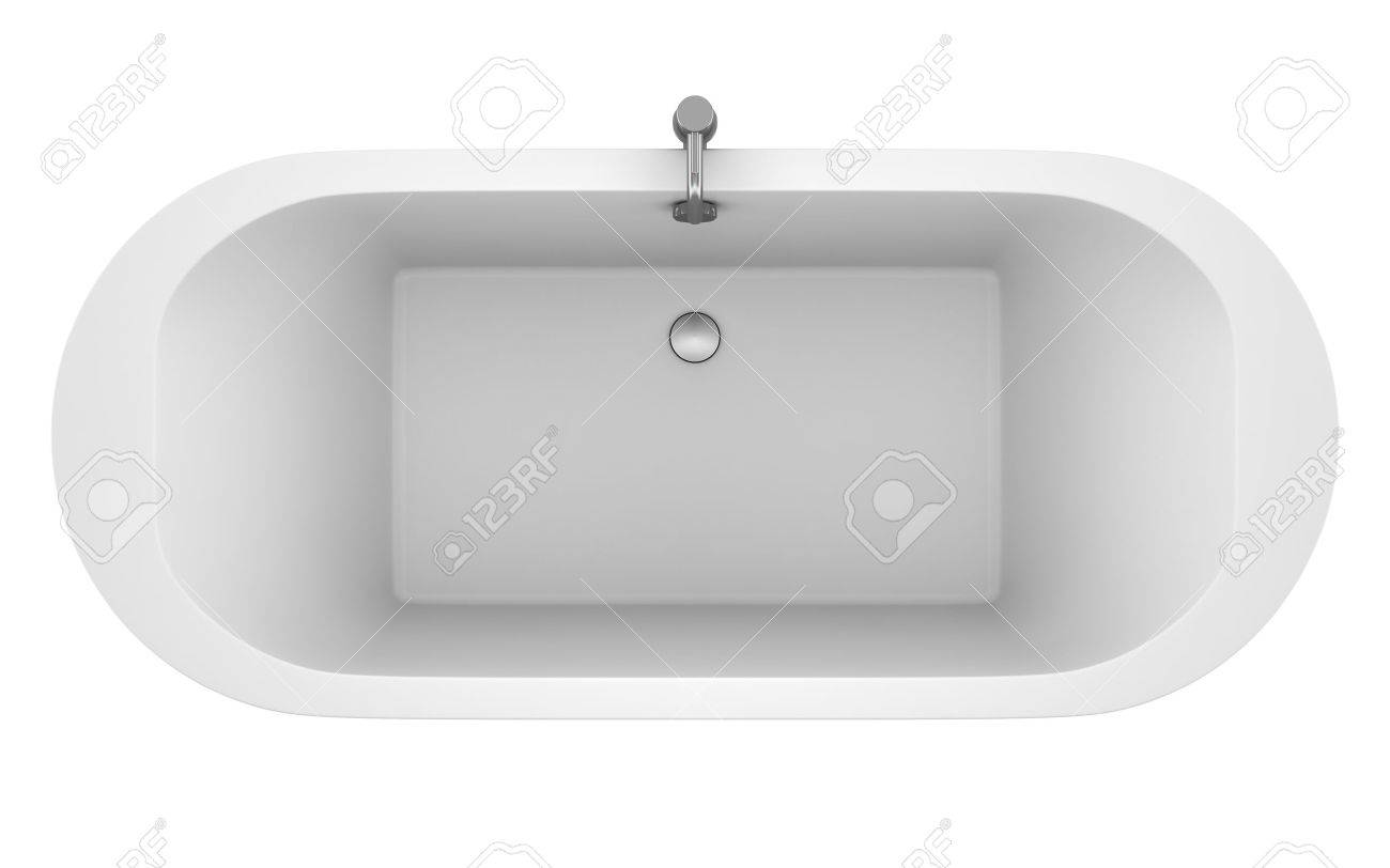 top view of modern bathtub isolated on white background Stock Photo - 15356711