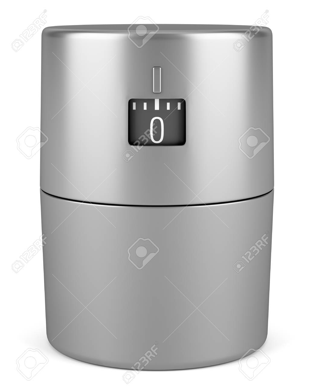 single modern metallic kitchen timer isolated on white background Stock Photo - 16606487
