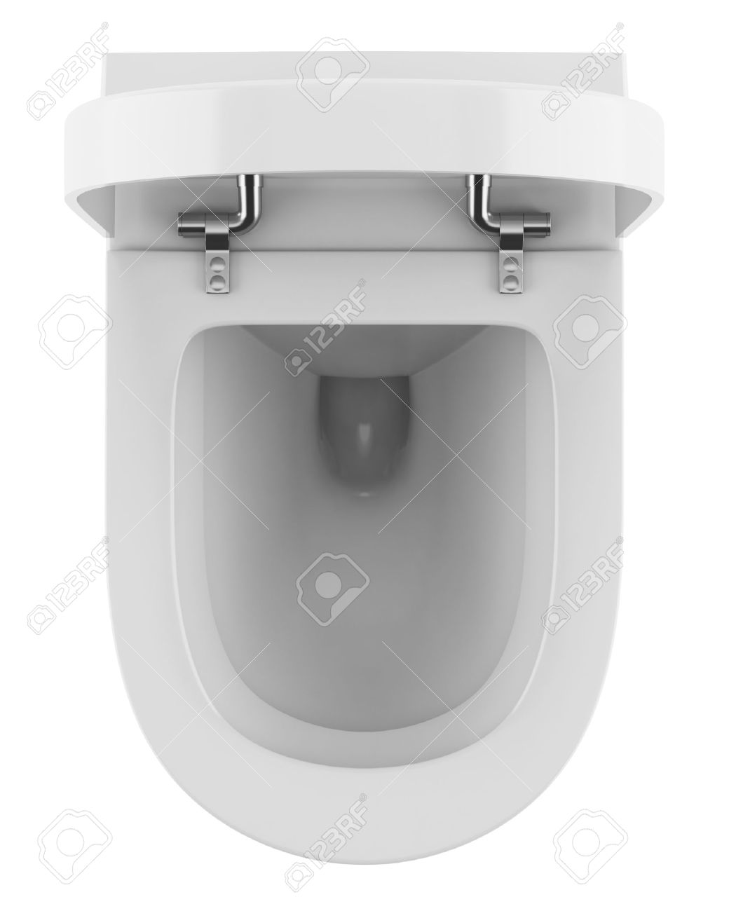 top view of modern toilet bowl isolated on white background Stock Photo    16651444. Top View Of Modern Toilet Bowl Isolated On White Background Stock