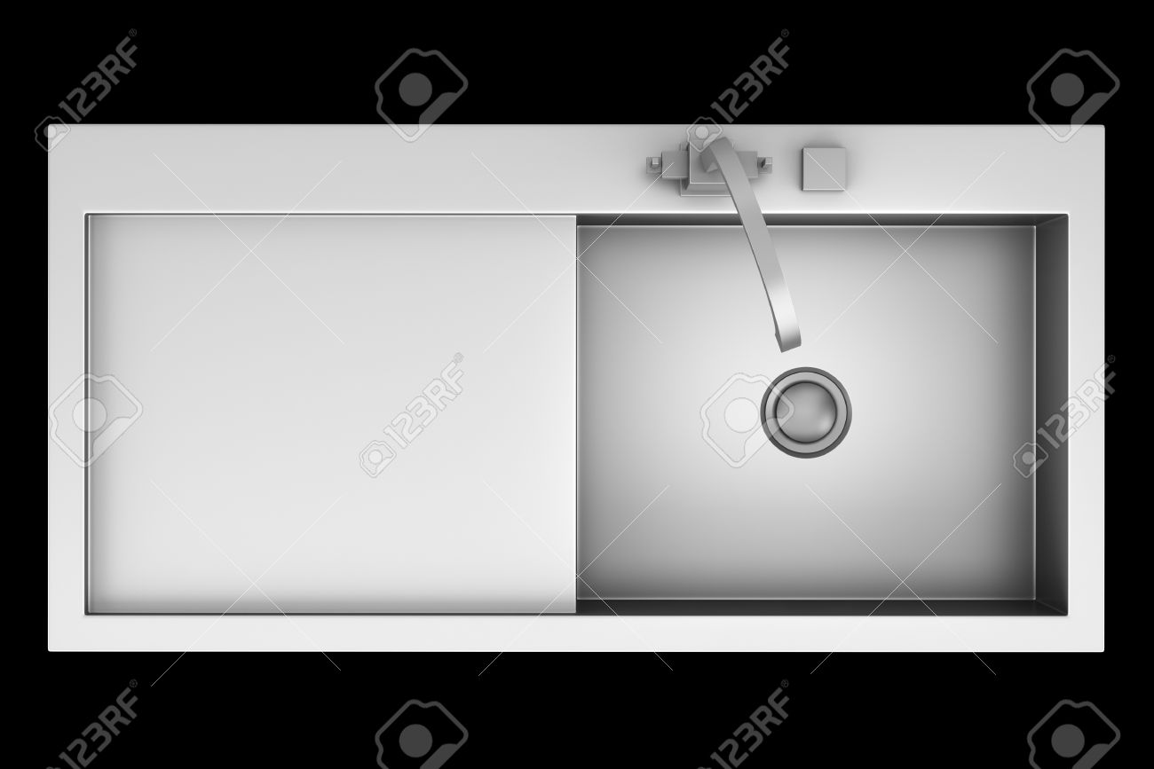 Top View Of Modern Metal Sink Isolated On Black Background Stock ... for Modern Sink Top View  588gtk