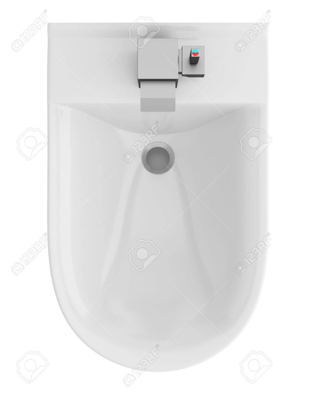 top view of ceramic bidet isolated on white background Stock Photo - 21362375