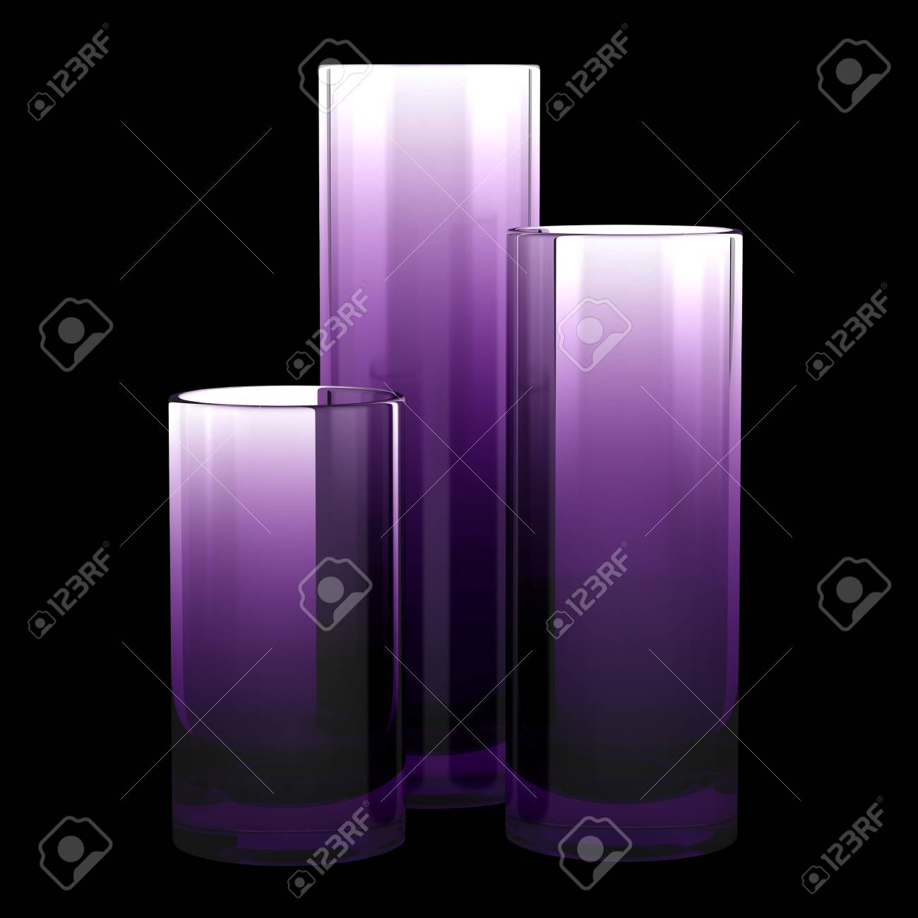 Purple glass vases gallery vases design picture three purple glass vases isolated on black background stock photo three purple glass vases isolated on reviewsmspy