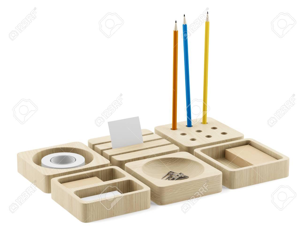 Modo organiseur de bureau en bois modulaire
