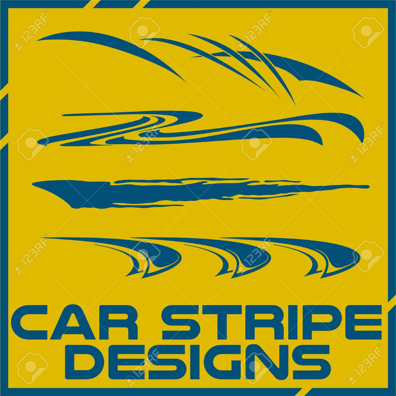 Tribal and cool car stripe design set adhesive vinyl stickers design for vehicles stock vector