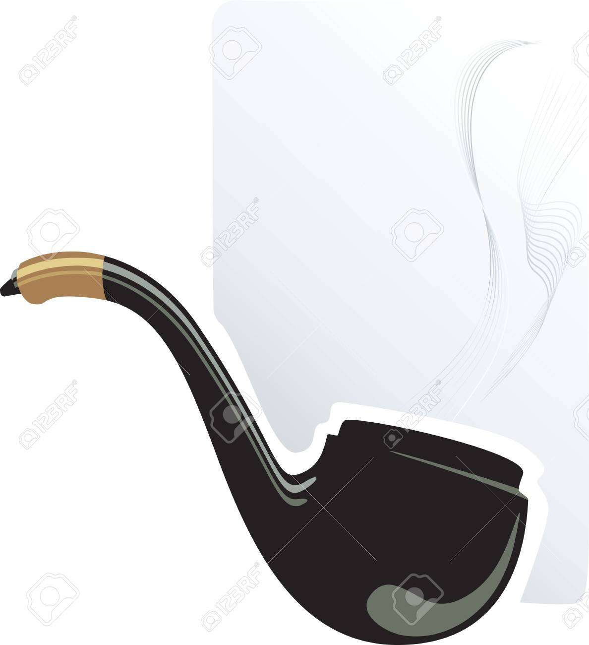 Illustration of a smoking pipe isolated Stock Photo - 3389223