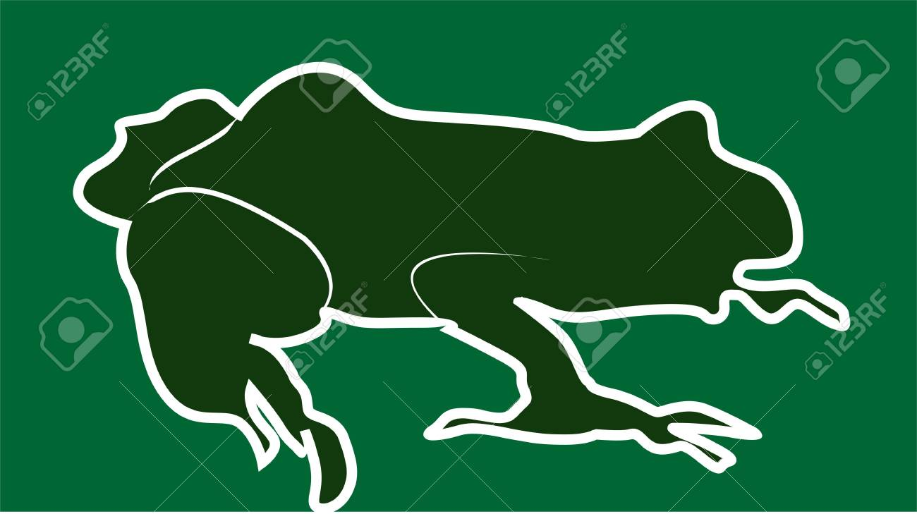 Illustration of a silhouette of a toad Stock Photo - 3423578