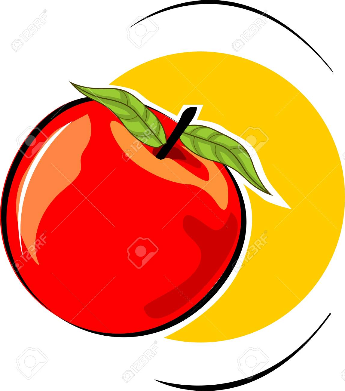 Illustration of a red tomato Stock Illustration - 3820877