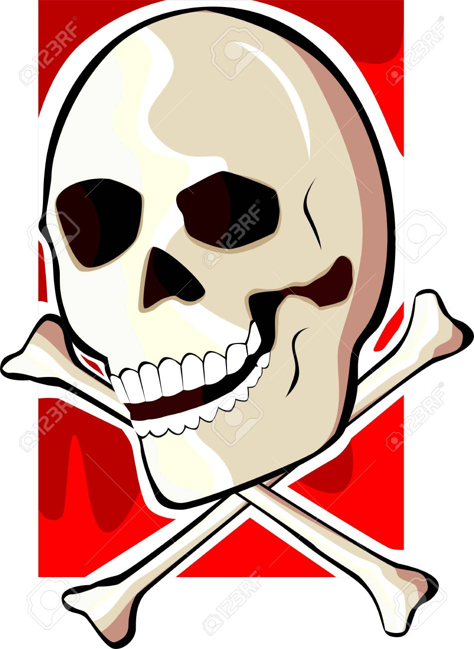 Illustration of a crossbones and devil Stock Photo - 3881936