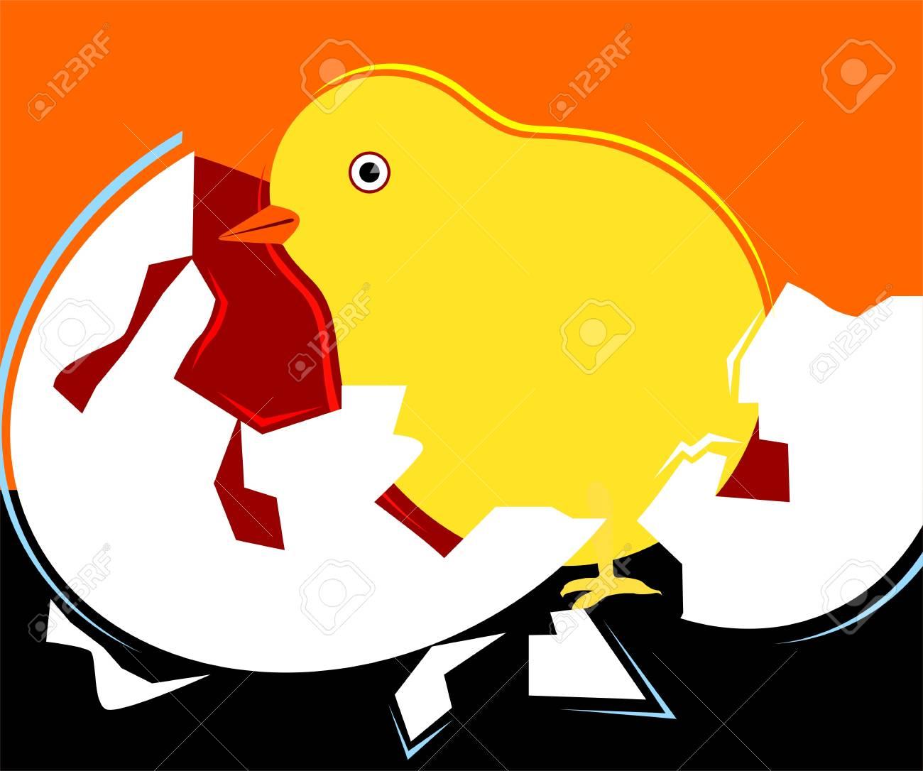 Illustration of chicken being born Stock Photo - 4088085