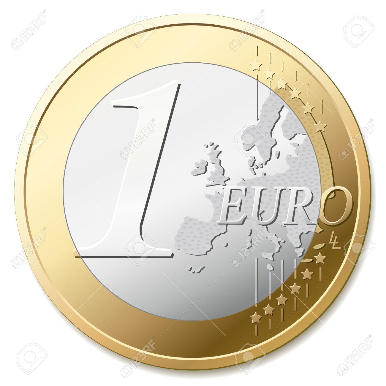 One euro coin vector illustration - 2687565