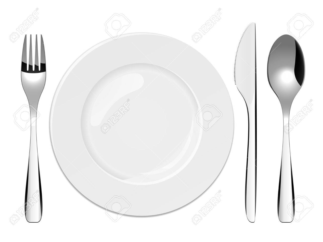 Vector illustration of utensils and porcelain plate Stock Vector - 4660167