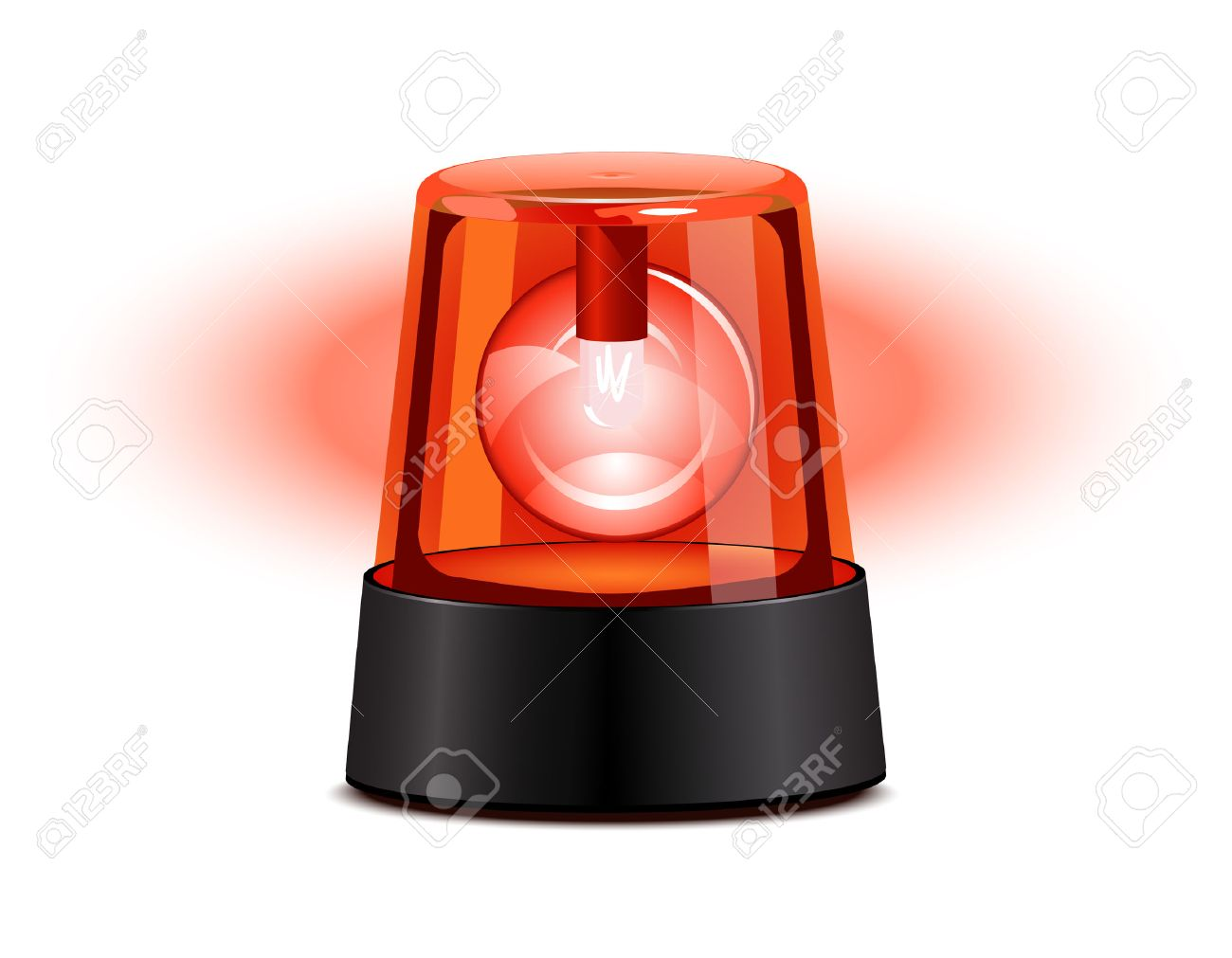 Flashing Red Light >> Red Flashing Light Over A White Background