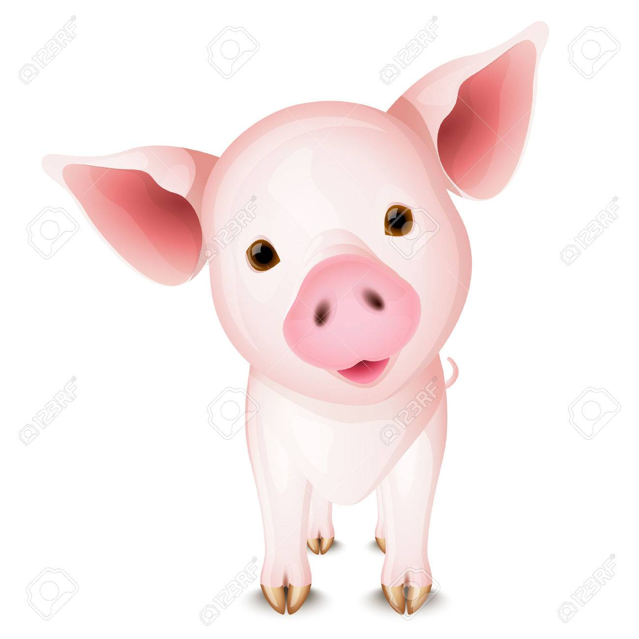 Little pink pig Stock Vector - 5958525